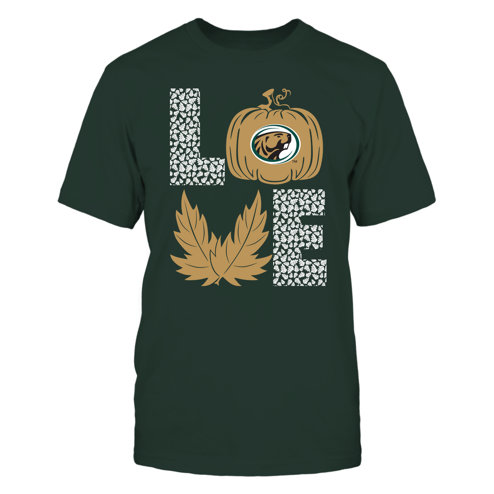 Bemidji State Beavers - Stacked Love - Fall - Leaf Pumpkin - Team Front picture