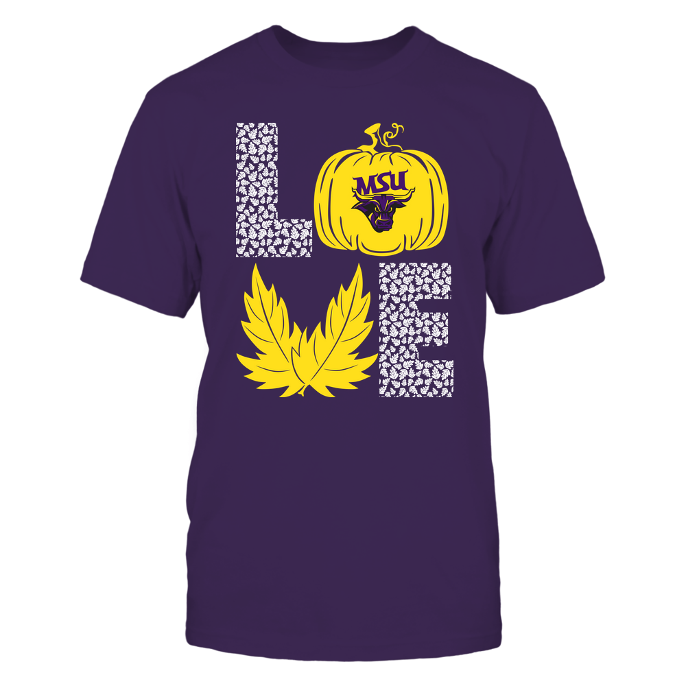 Minnesota State Mavericks - Stacked Love - Fall - Leaf Pumpkin - Team Front picture