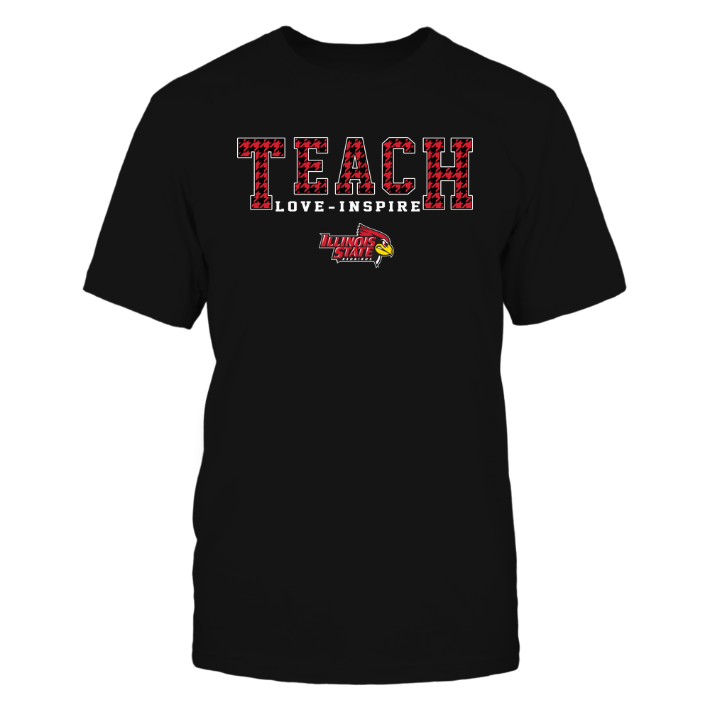 Illinois State Redbirds - Teacher - Teach Love Inspire - Checkmate Pattern - IF32-IC32-DS84 Front picture