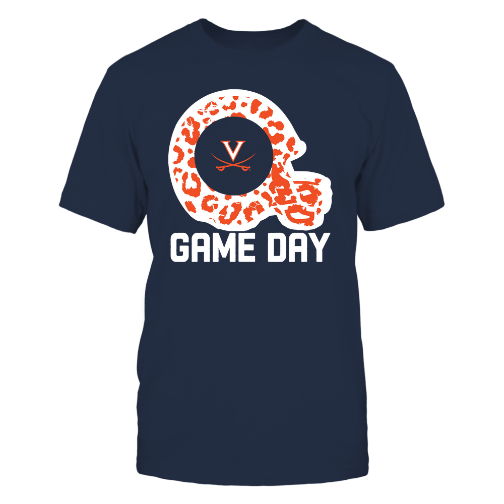 Virginia Cavaliers - Game Day - Leopard Pattern Helmet - Team Front picture