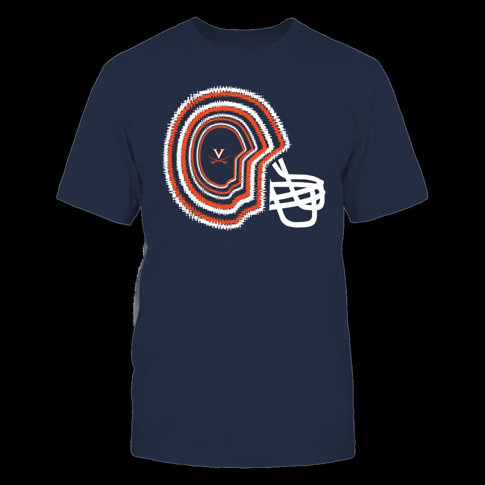 Virginia Cavaliers - Football - Tie Dye Helmet - Team Front picture