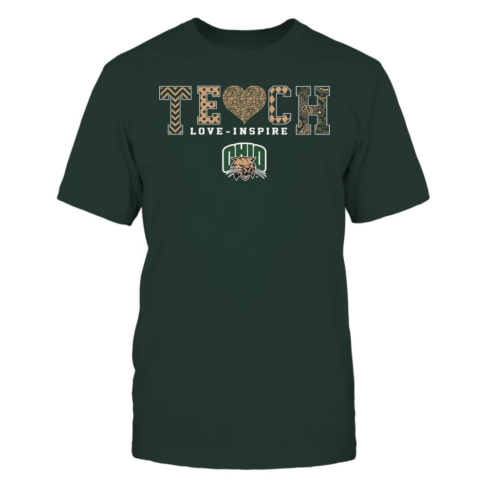 Ohio Bobcats - Teach Love Inspire - Lace Heart - Team Front picture