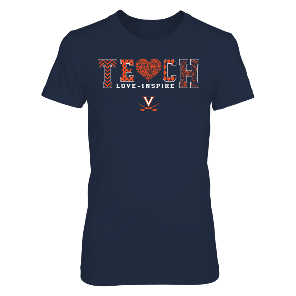 Virginia Cavaliers - Teach Love Inspire - Lace Heart - Team Front picture
