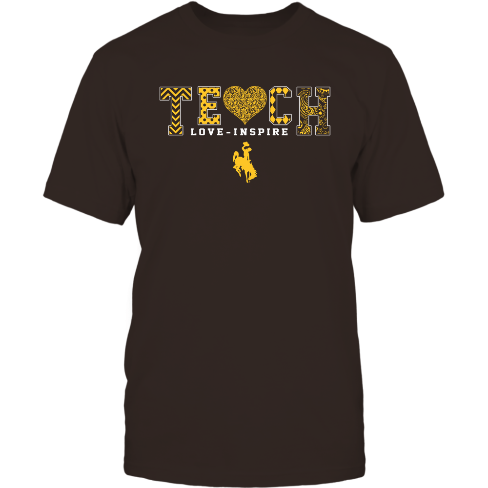 Wyoming Cowboys - Teach Love Inspire - Lace Heart - Team Front picture