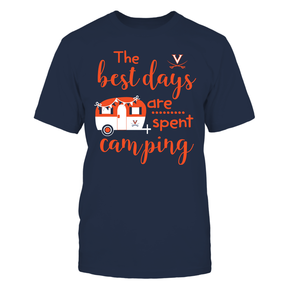 Virginia Cavaliers - Camping - The Best Days Are Spent Camping - Team Front picture