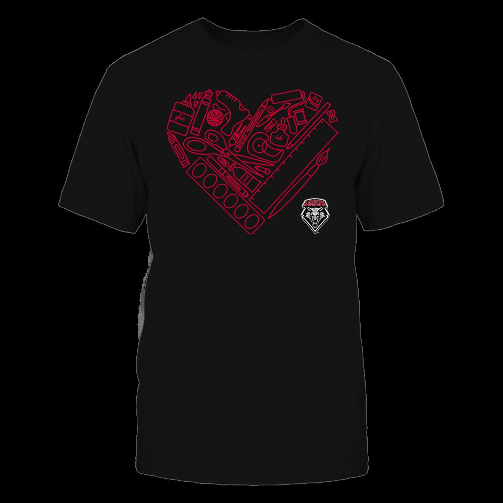 New Mexico Lobos - Teacher - Heart Teacher Things - Team Front picture