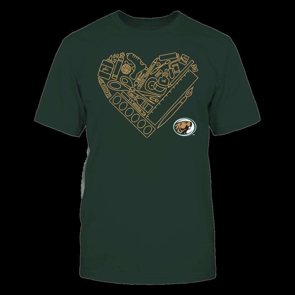 Bemidji State Beavers - Teacher - Heart Teacher Things - Team Front picture