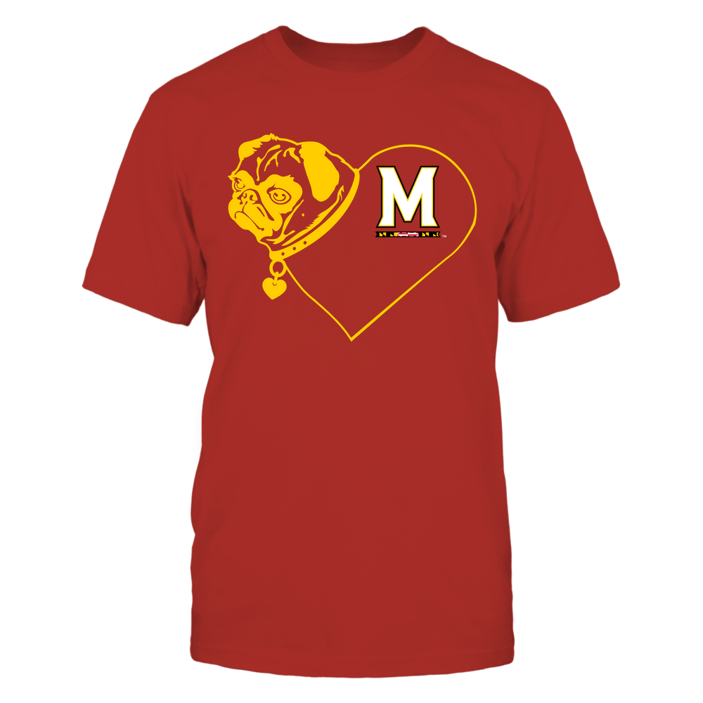 Maryland Terrapins - Pug Heart - Team Front picture