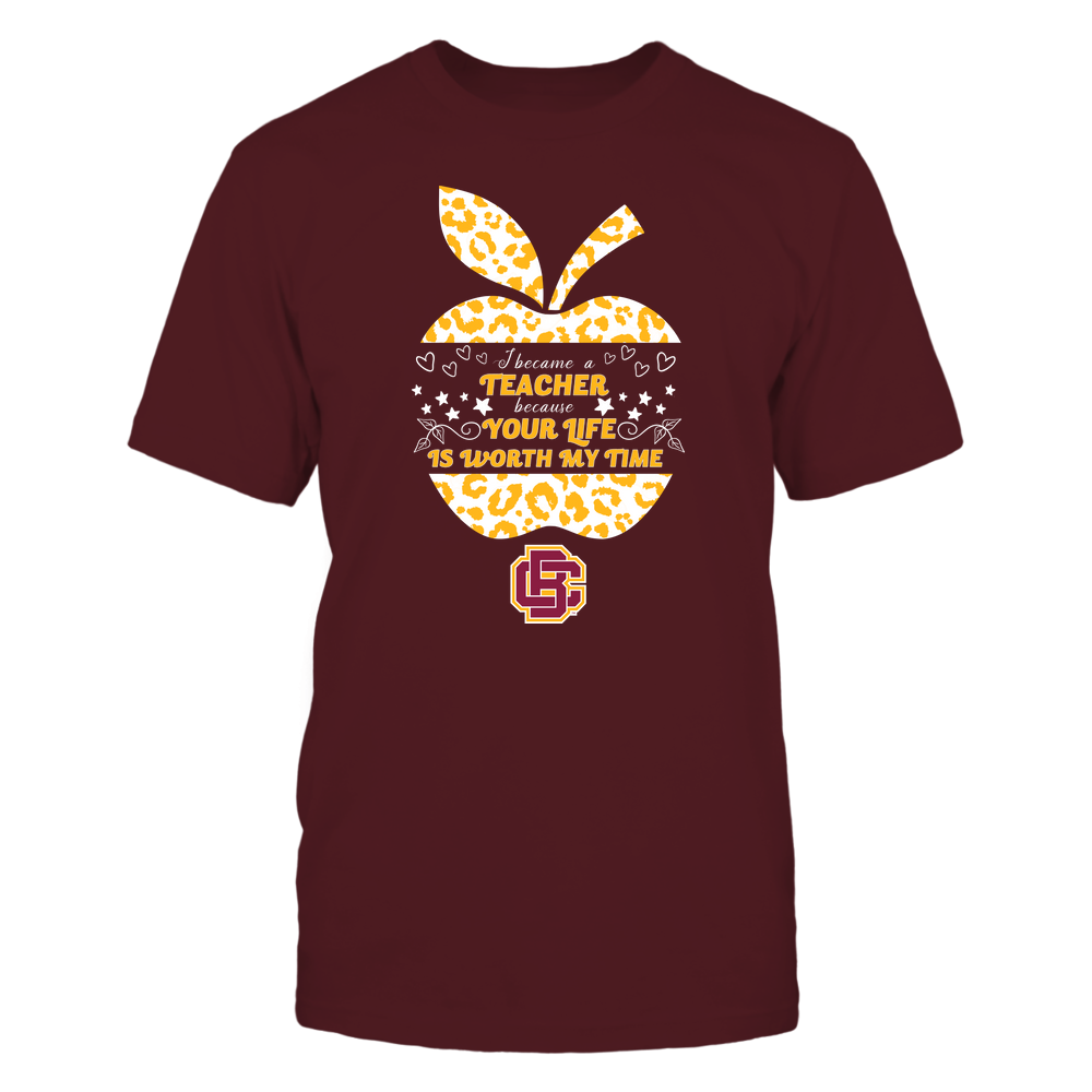 Bethune-Cookman Wildcats - I Became A Teacher Because Your Life is Worth My Time - Leopard Apple - Cut Throug Front picture