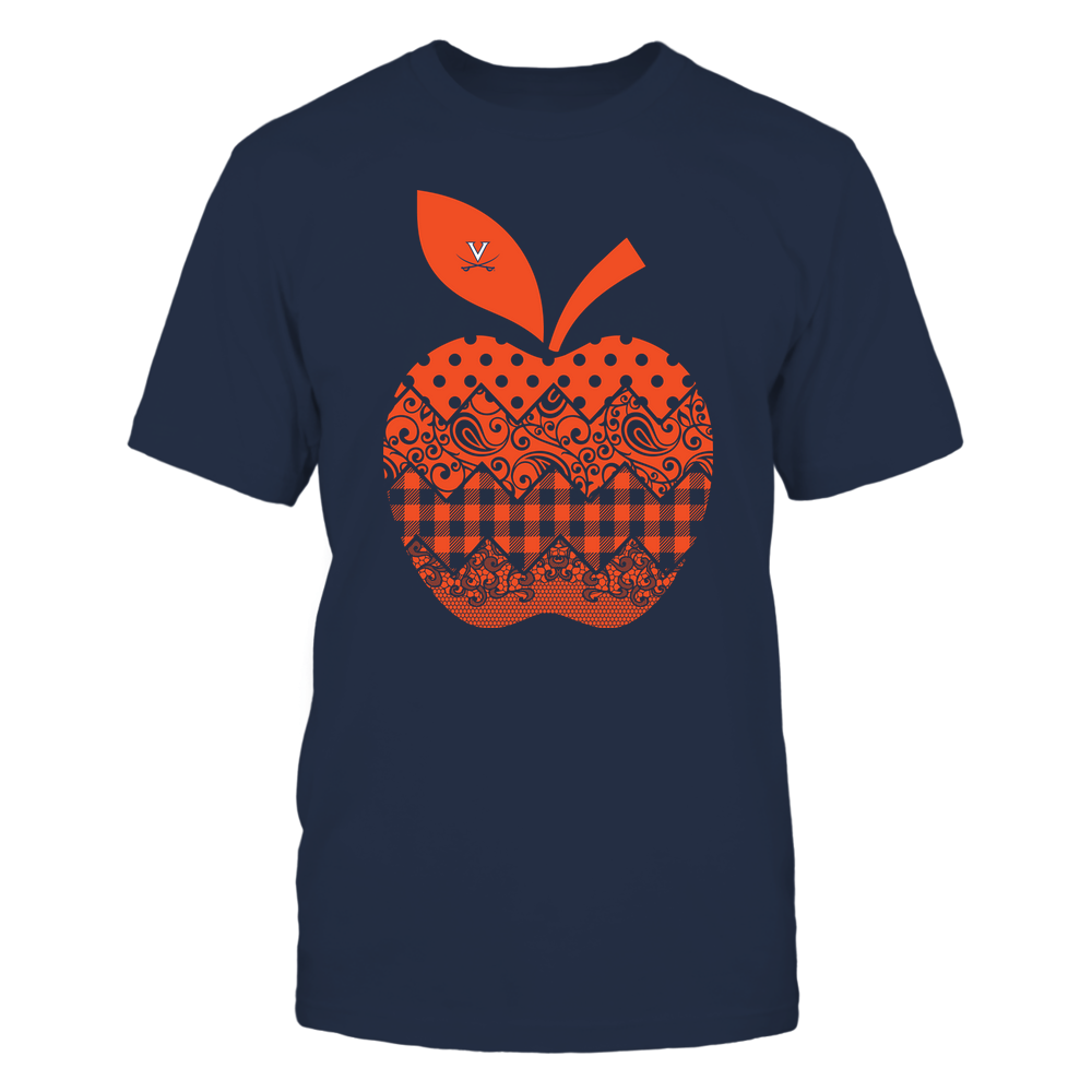 Virginia Cavaliers - Teacher - Apple Patterned - Team Front picture
