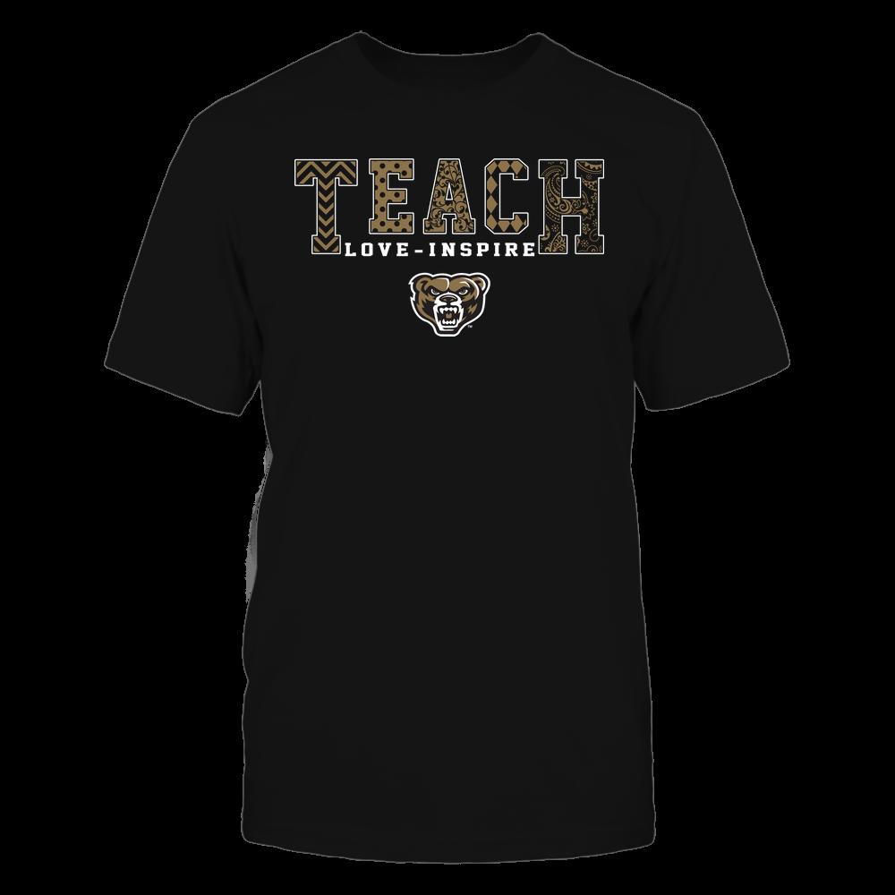 Oakland Golden Grizzlies - Teach Love Inspire - Slogan Pattern - Team Front picture