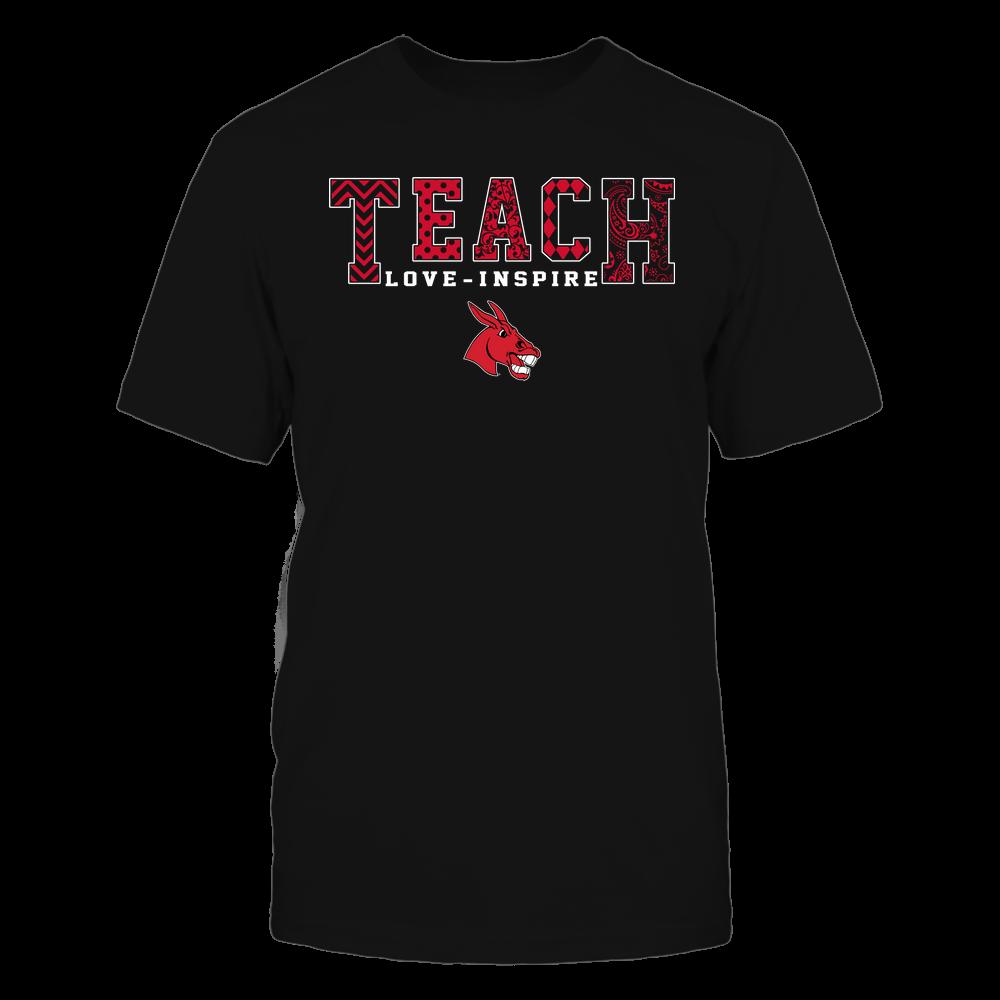 Central Missouri Mules - Teach Love Inspire - Slogan Pattern - Team Front picture