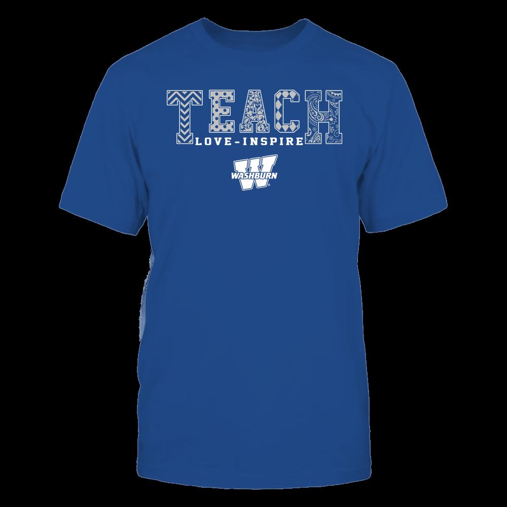 Washburn Ichabods - Teach Love Inspire - Slogan Pattern - Team Front picture
