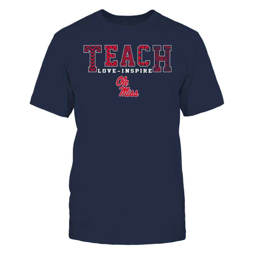 Ole Miss Rebels - Teach Love Inspire - Slogan Pattern - Team Front picture