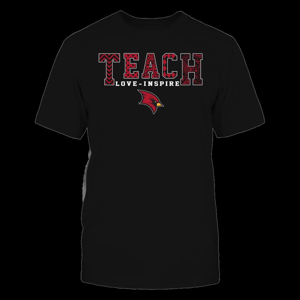 Saginaw Valley State Cardinals - Teach Love Inspire - Slogan Pattern - Team Front picture