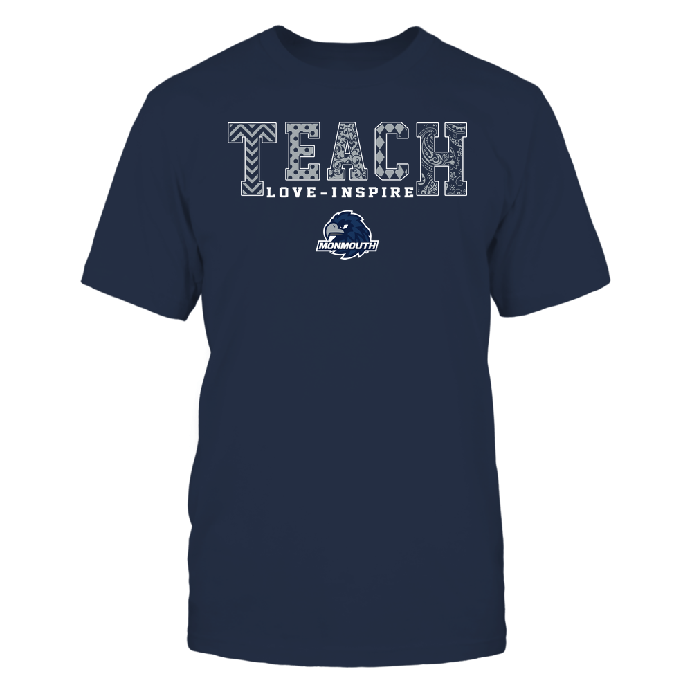 Monmouth Hawks - Teach Love Inspire - Slogan Pattern - Team Front picture