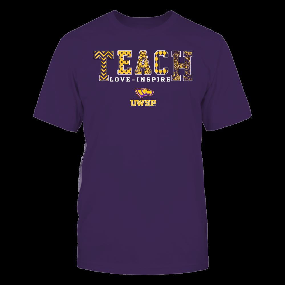 Wisconsin-Stevens Point Pointers - Teach Love Inspire - Slogan Pattern - Team Front picture