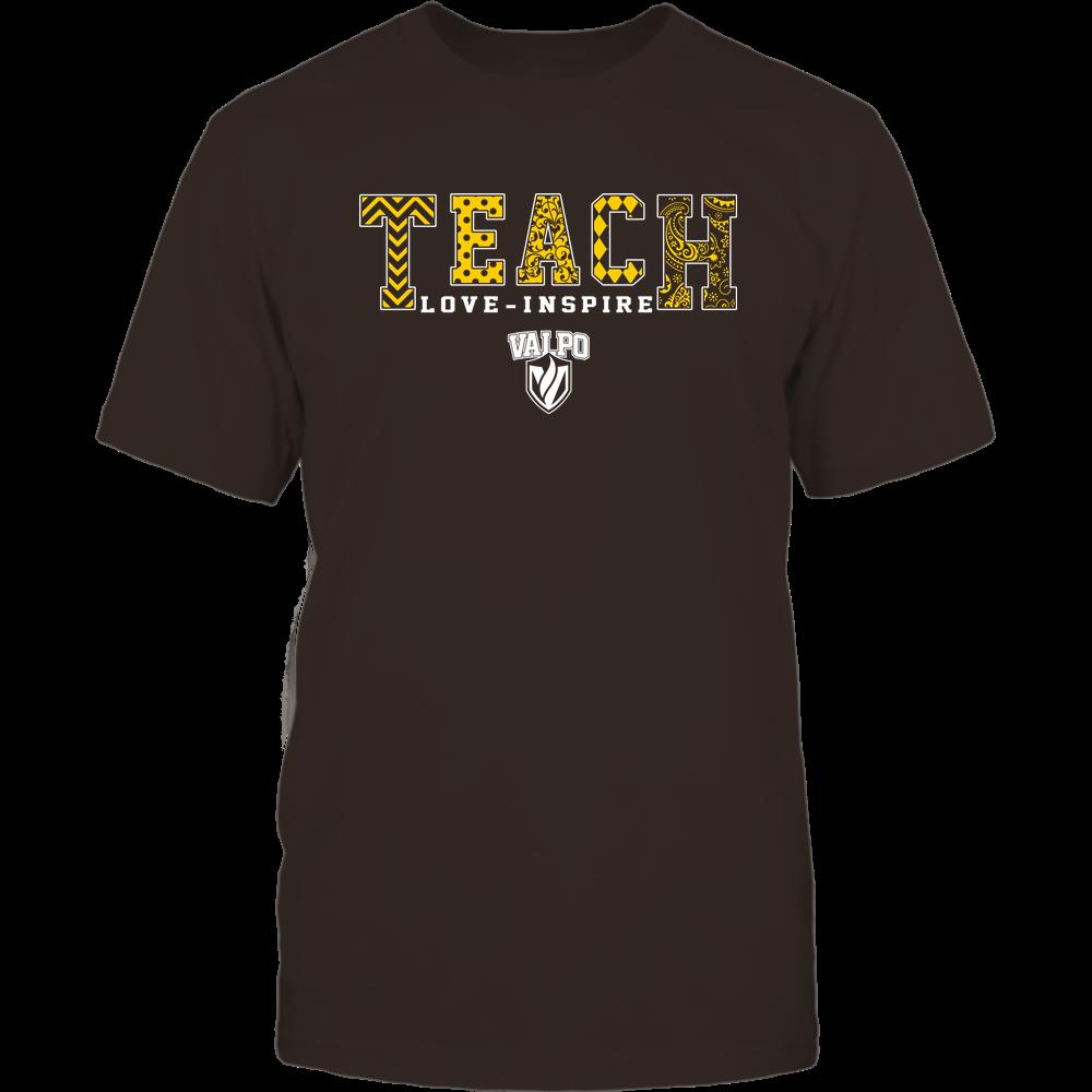 Valparaiso Crusaders - Teach Love Inspire - Slogan Pattern - Team Front picture