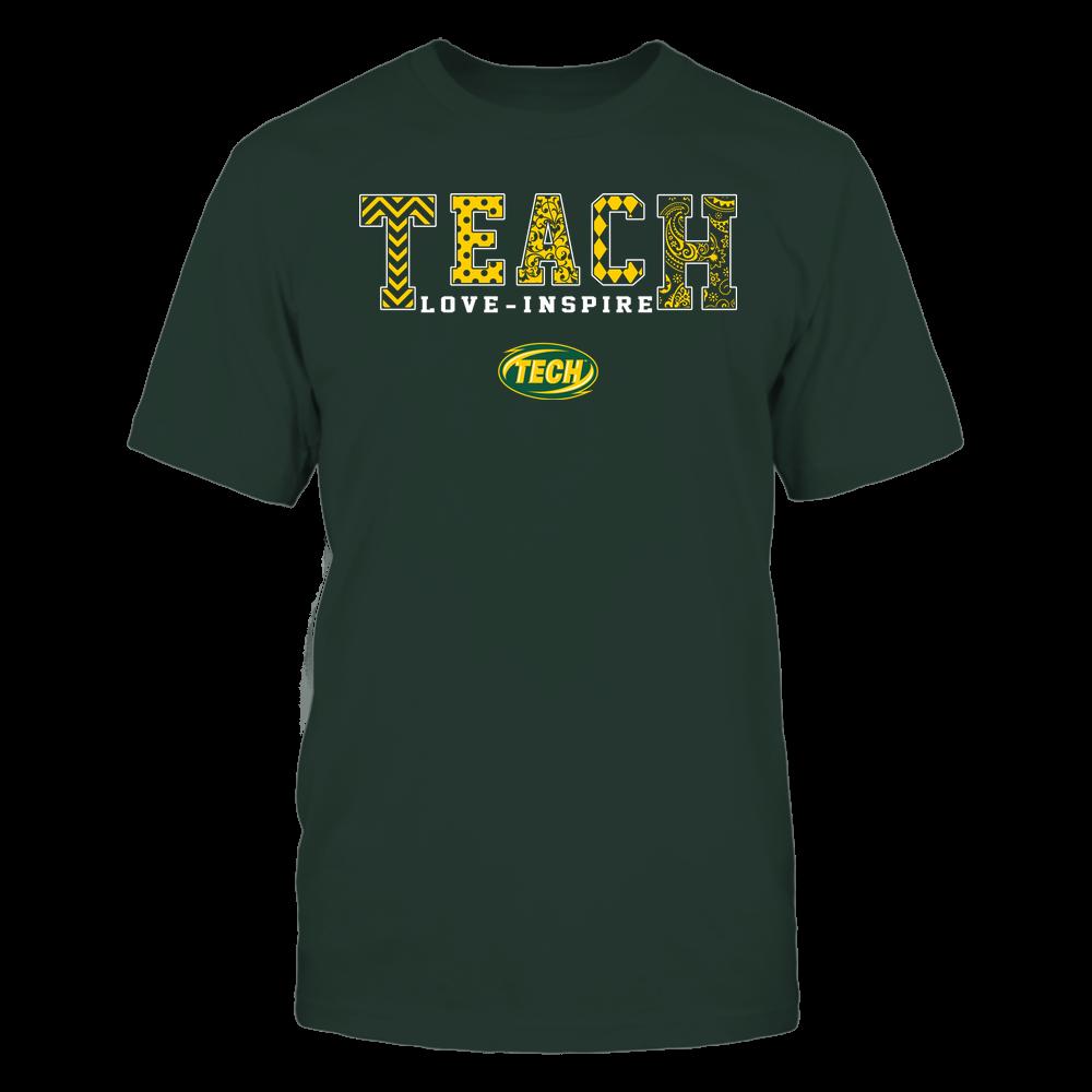 Arkansas Tech Golden Suns - Teach Love Inspire - Slogan Pattern - Team Front picture