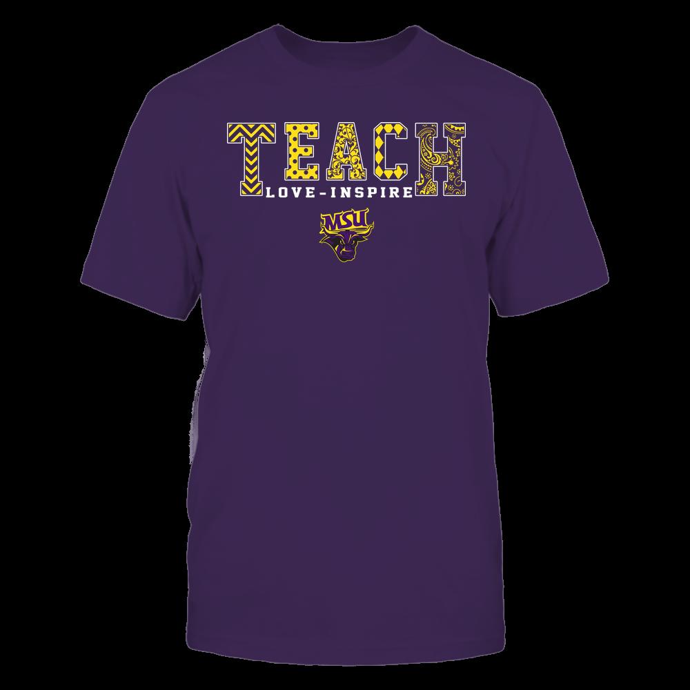 Minnesota State Mavericks - Teach Love Inspire - Slogan Pattern - Team Front picture