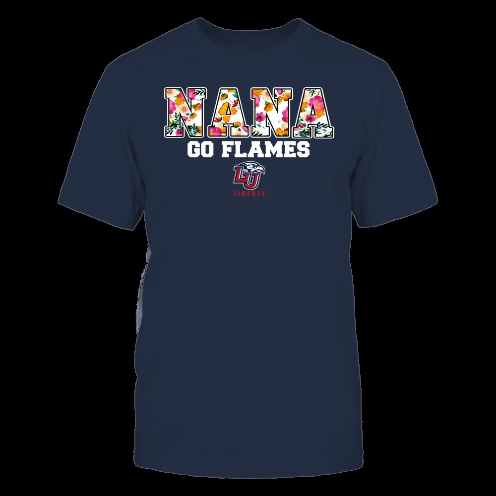 Liberty Flames - Nana - Floral Pattern - Slogan Front picture