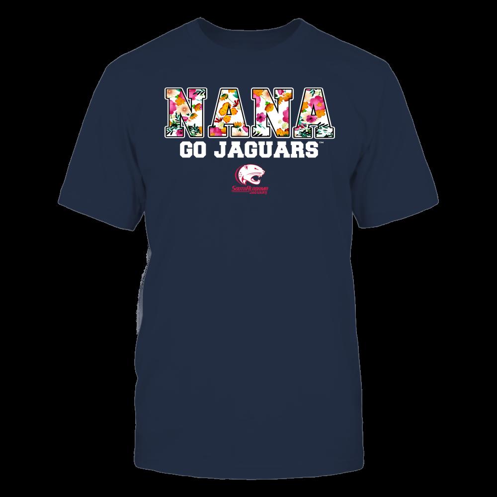 South Alabama Jaguars - Nana - Floral Pattern - Slogan Front picture