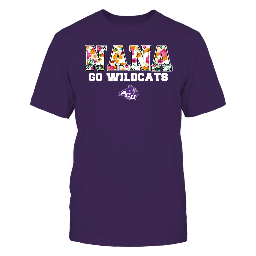 Abilene Christian Wildcats - Nana - Floral Pattern - Slogan Front picture
