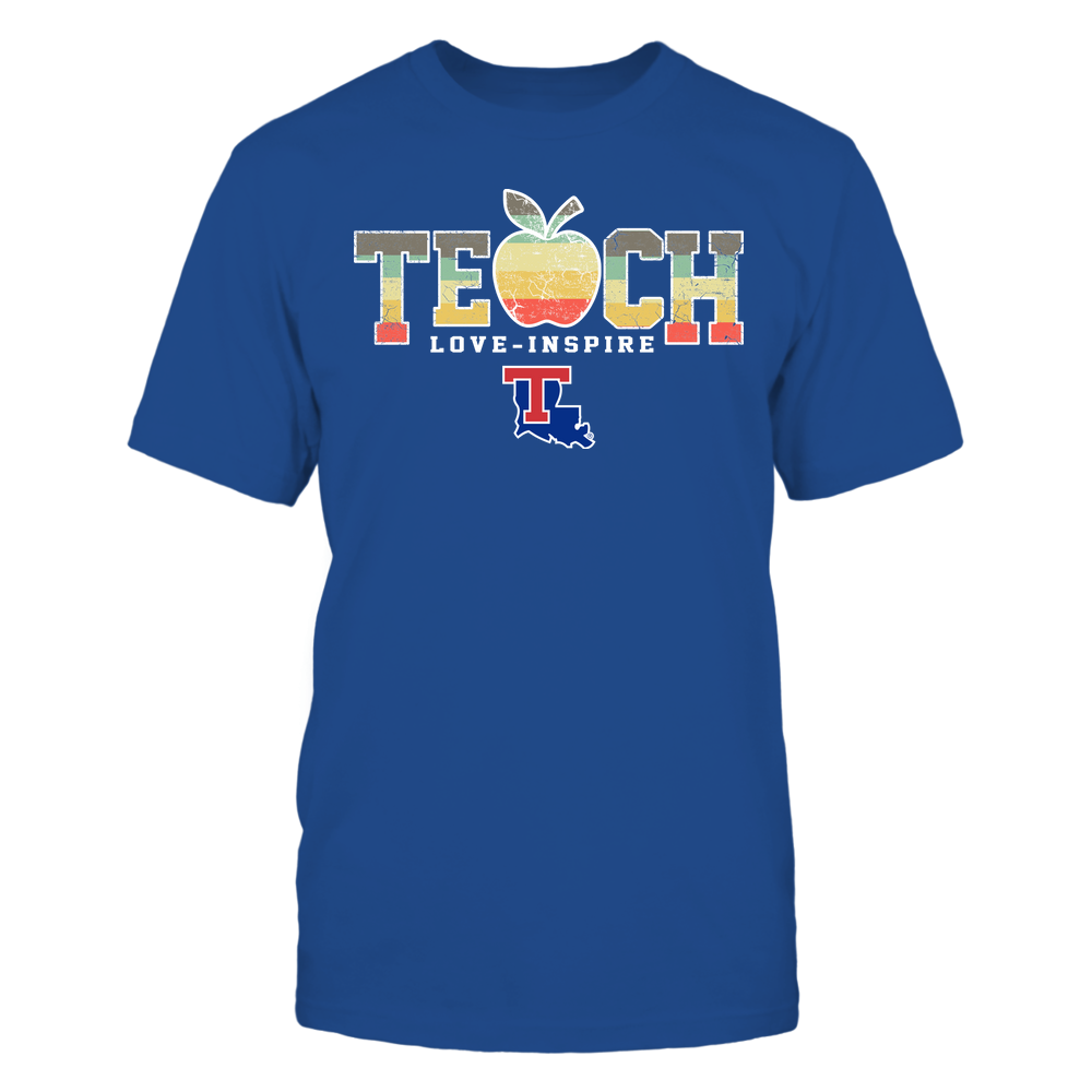 Louisiana Tech Bulldogs - Teach Love Inspire - Apple Vintage - Team Front picture