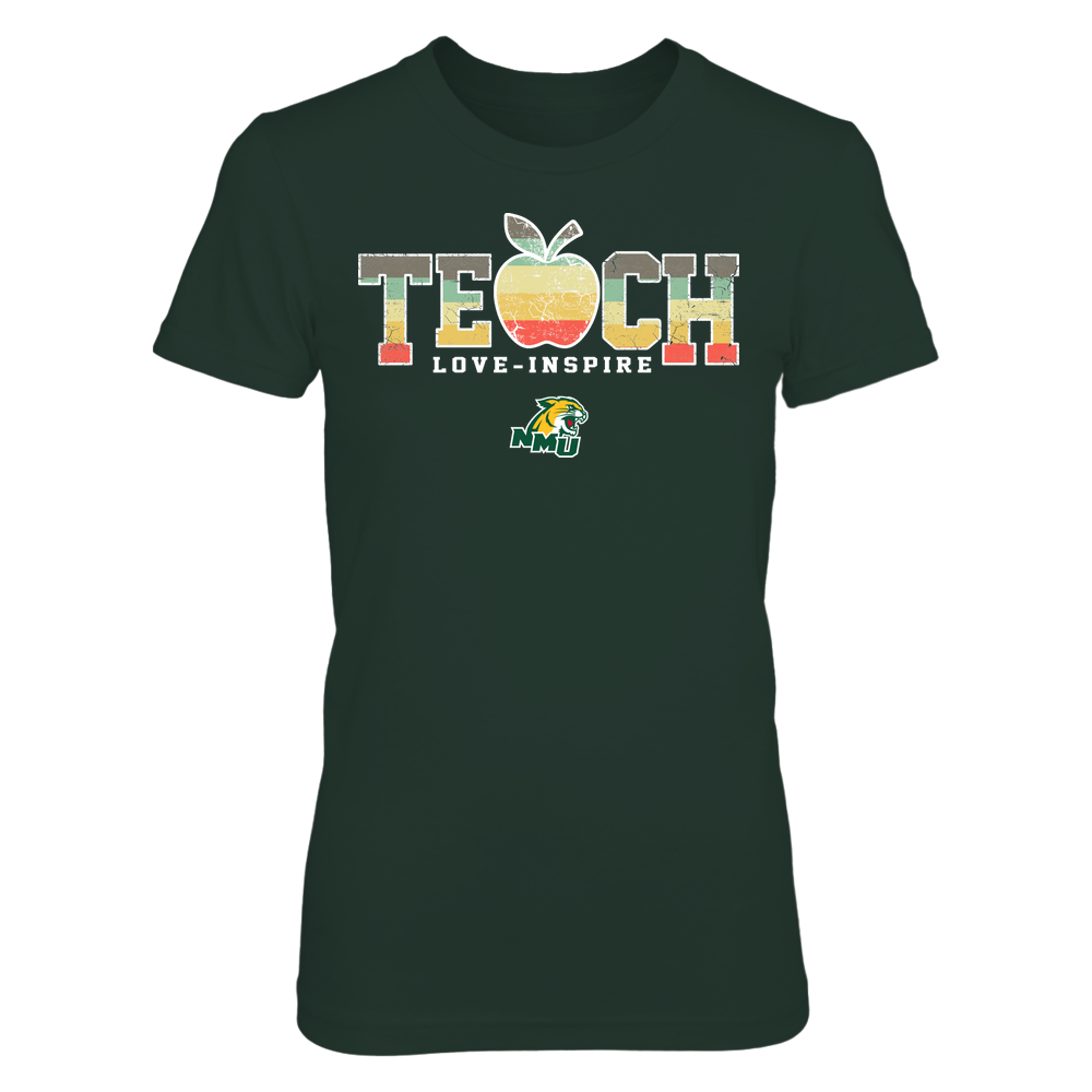 Northern Michigan Wildcats - Teach Love Inspire - Apple Vintage - Team Front picture