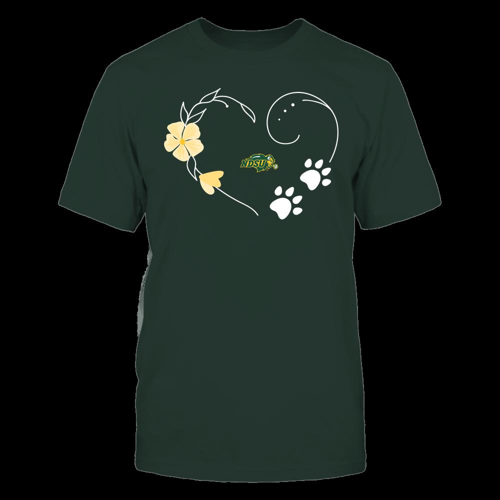 North Dakota State Bison - Flower Heart Paw - Team Front picture