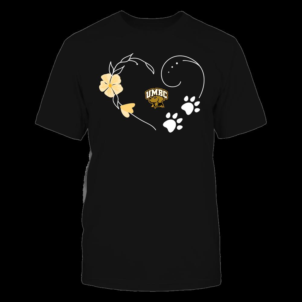 UMBC Retrievers - Flower Heart Paw - Team Front picture