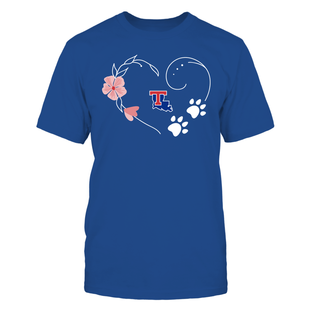 Louisiana Tech Bulldogs - Flower Heart Paw - Team  - IF-IC32-DS29 Front picture