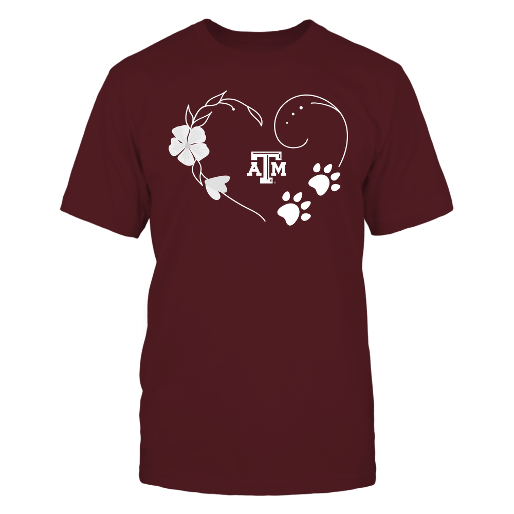 Texas A&M Aggies - Flower Heart Paw - Team Front picture