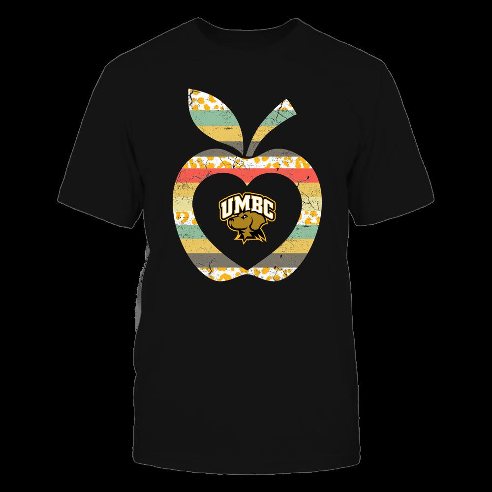UMBC Retrievers - Teacher - Leopard Vintage Apple - Team Front picture