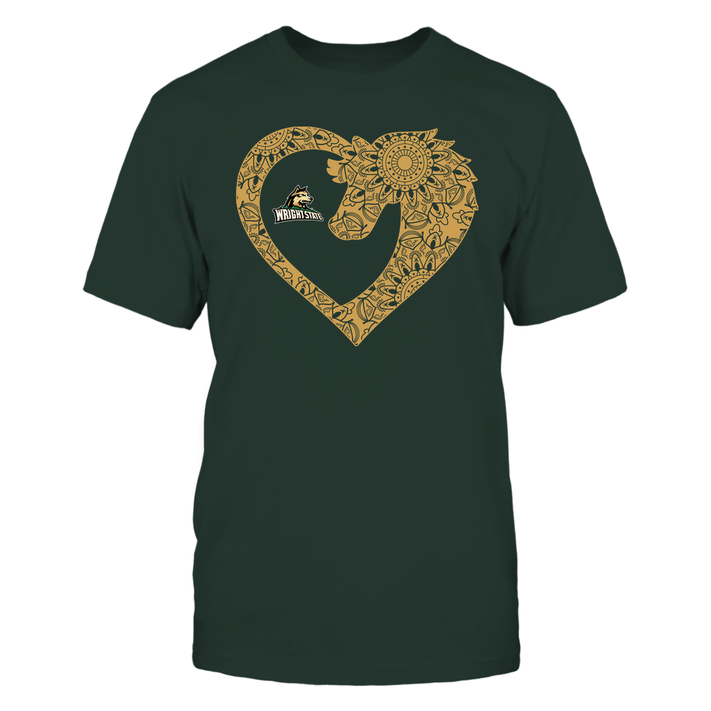 Wright State Raiders - Horse - Mandala Horse Heart - Team Front picture