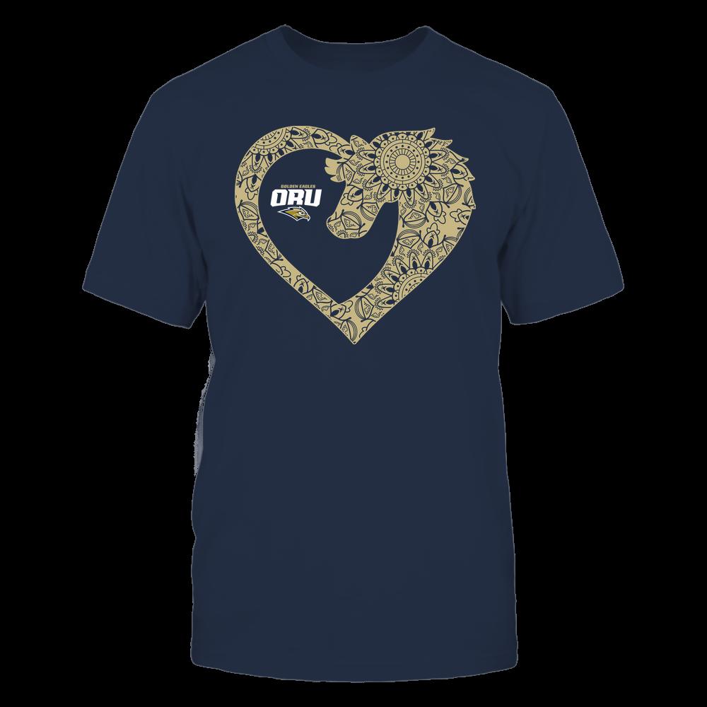 Oral Roberts Golden Eagles - Horse - Mandala Horse Heart - Team Front picture