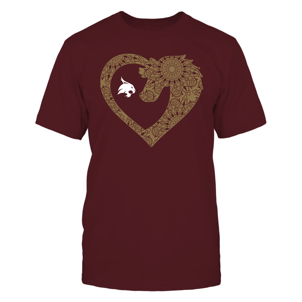 Texas State Bobcats - Horse - Mandala Horse Heart - Team Front picture