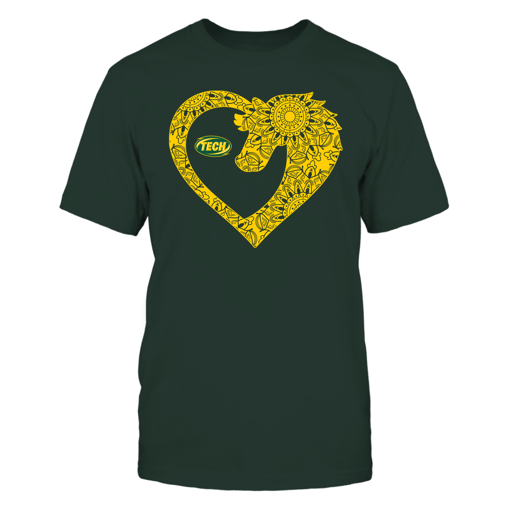 Arkansas Tech Golden Suns - Horse - Mandala Horse Heart - Team Front picture