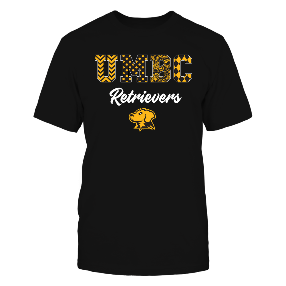 UMBC Retrievers - Patterned Letters - IF13-IC13-DS37 Front picture