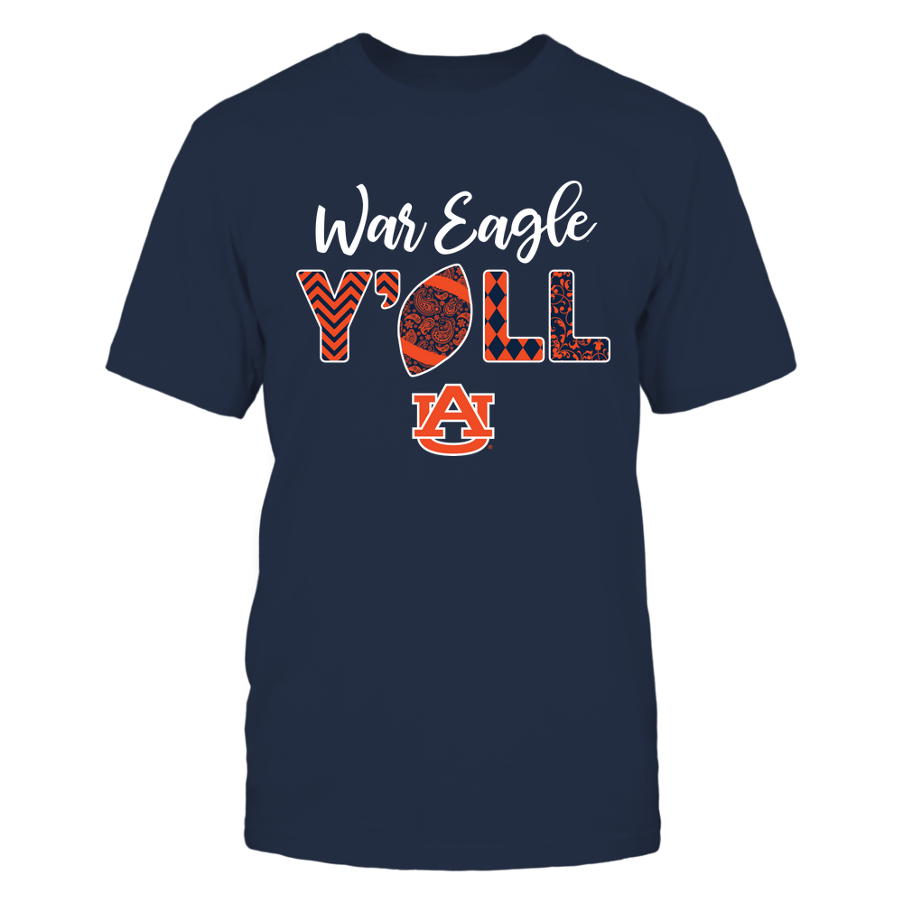 Auburn Tigers - Yall Patterned Football - IF13-IC13-DS83 Front picture