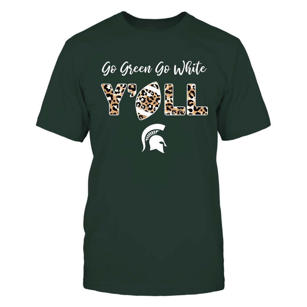 Michigan State Spartans - Yall Leopard Football - IF13-IC13-DS83 Front picture
