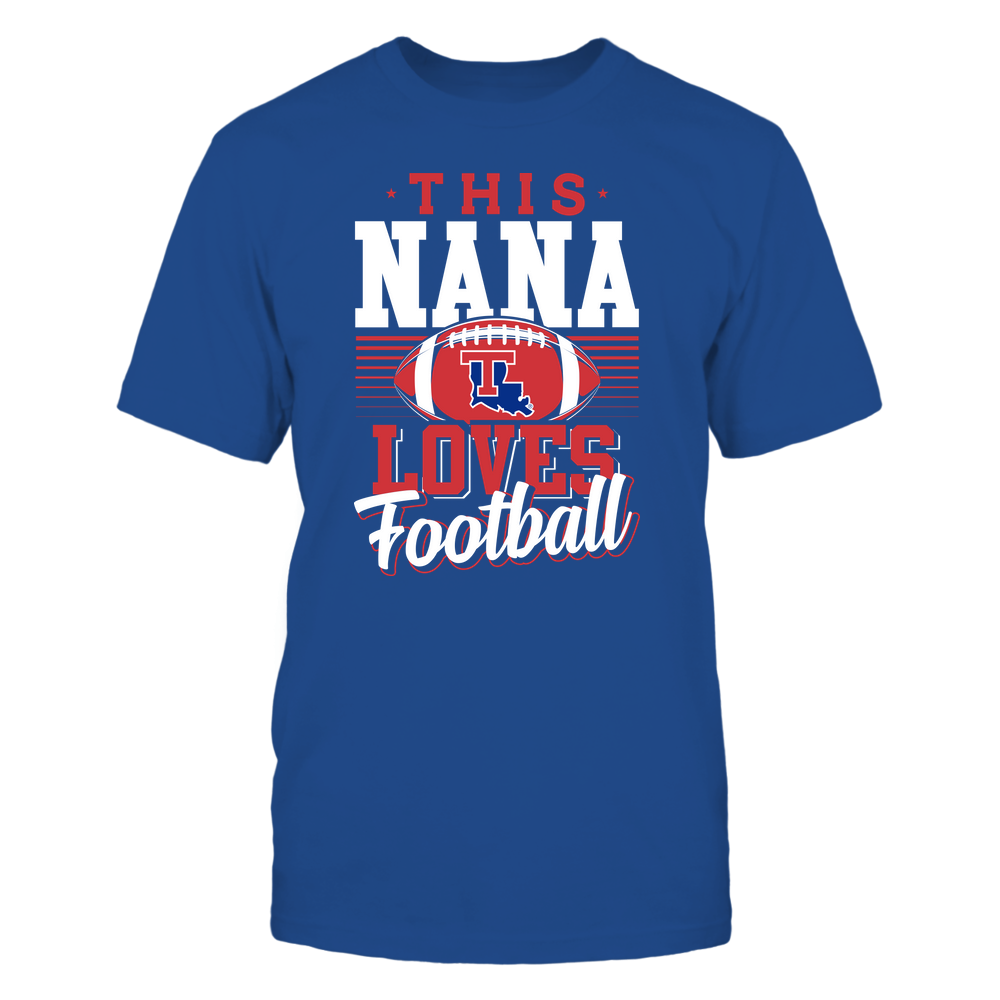 Louisiana Tech Bulldogs - This Nana Loves Football - Team Front picture