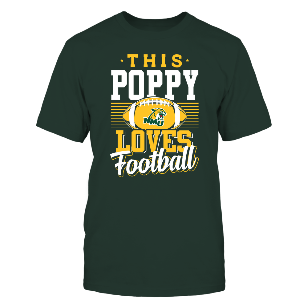 Northern Michigan Wildcats - This Poppy Loves Football - Team Front picture