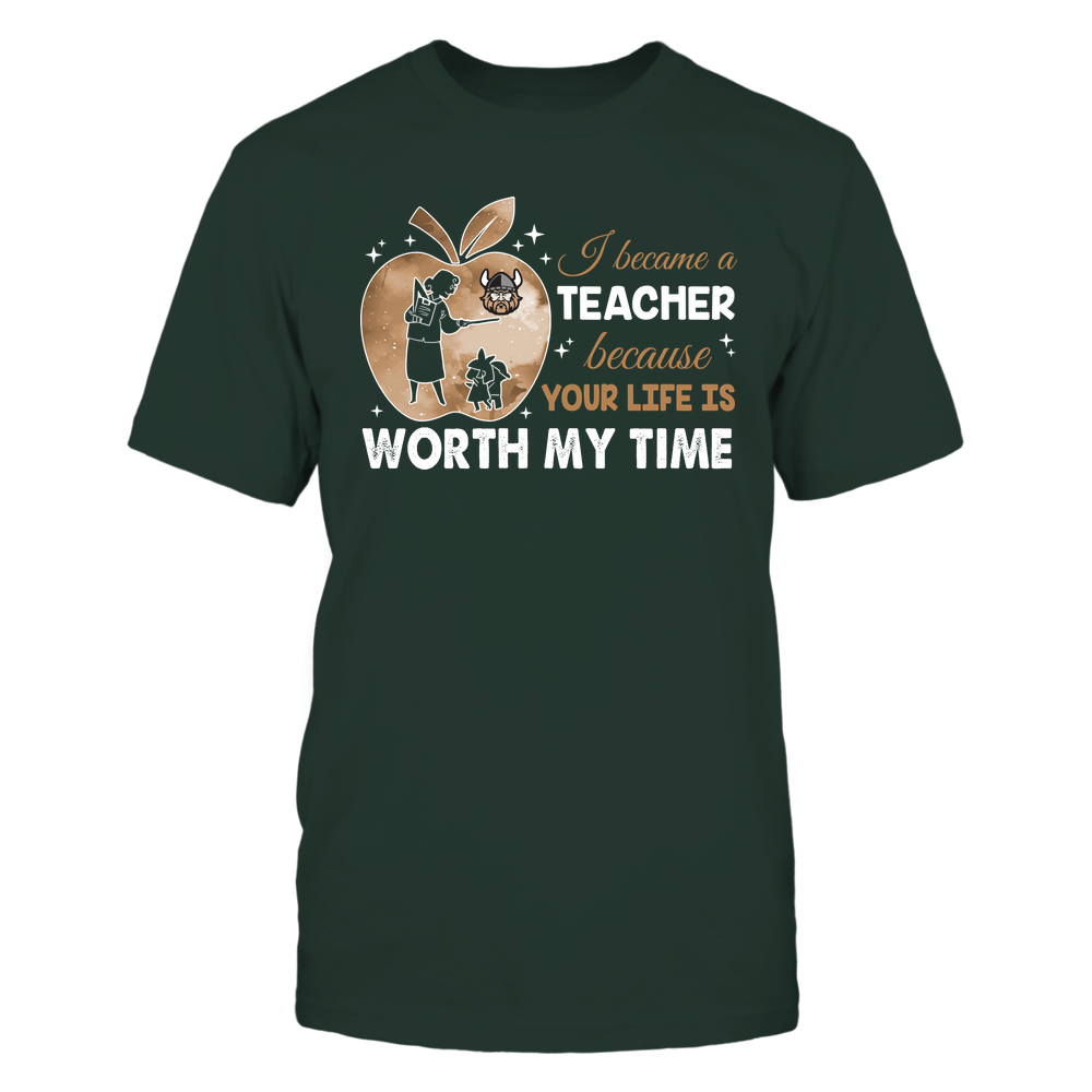 Cleveland State Vikings - Teacher - I Became A Teacher Because Your Life Is Worth My Time - Apple Gradient Front picture