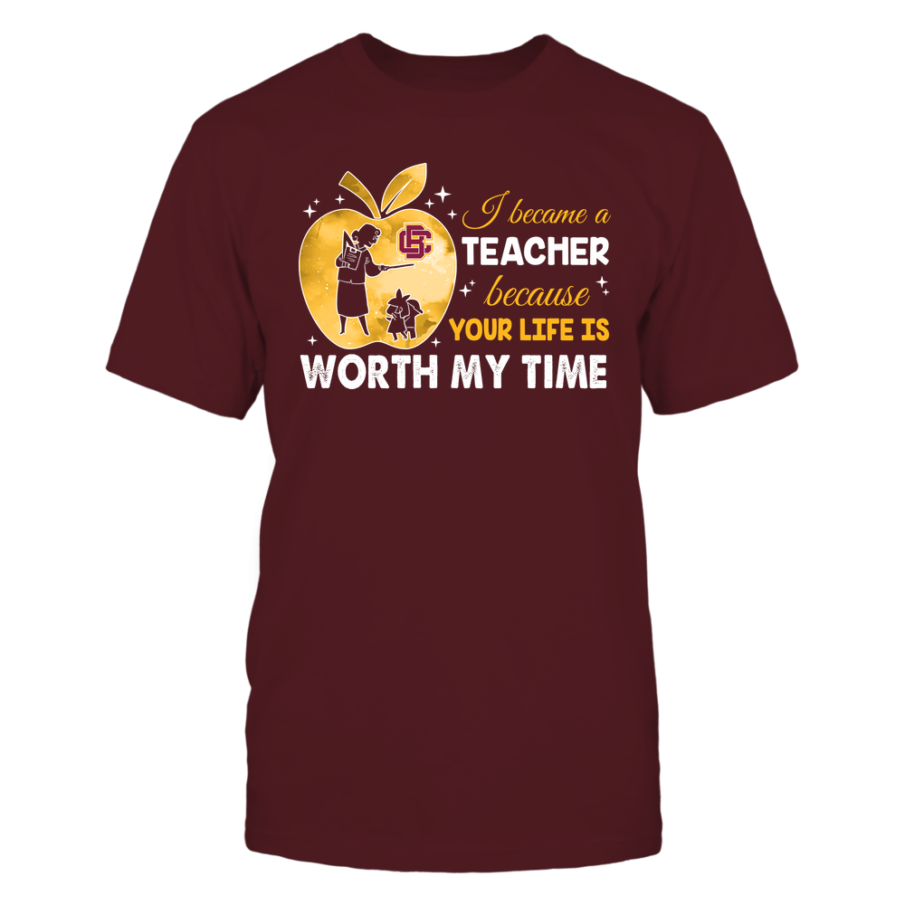 Bethune-Cookman Wildcats - Teacher - I Became A Teacher Because Your Life Is Worth My Time - Apple Gradient Front picture