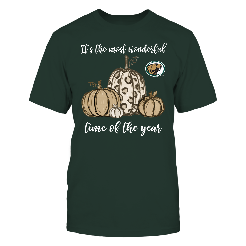 Bemidji State Beavers - Fall ^ It's The Most Wonderful Time Of The Year - Pumpkins Front picture