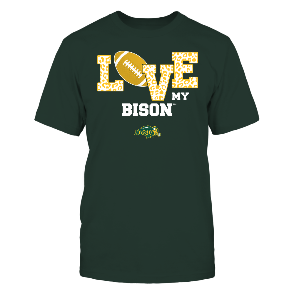 North Dakota State Bison - Love My Team - Leopard Football - Team Front picture