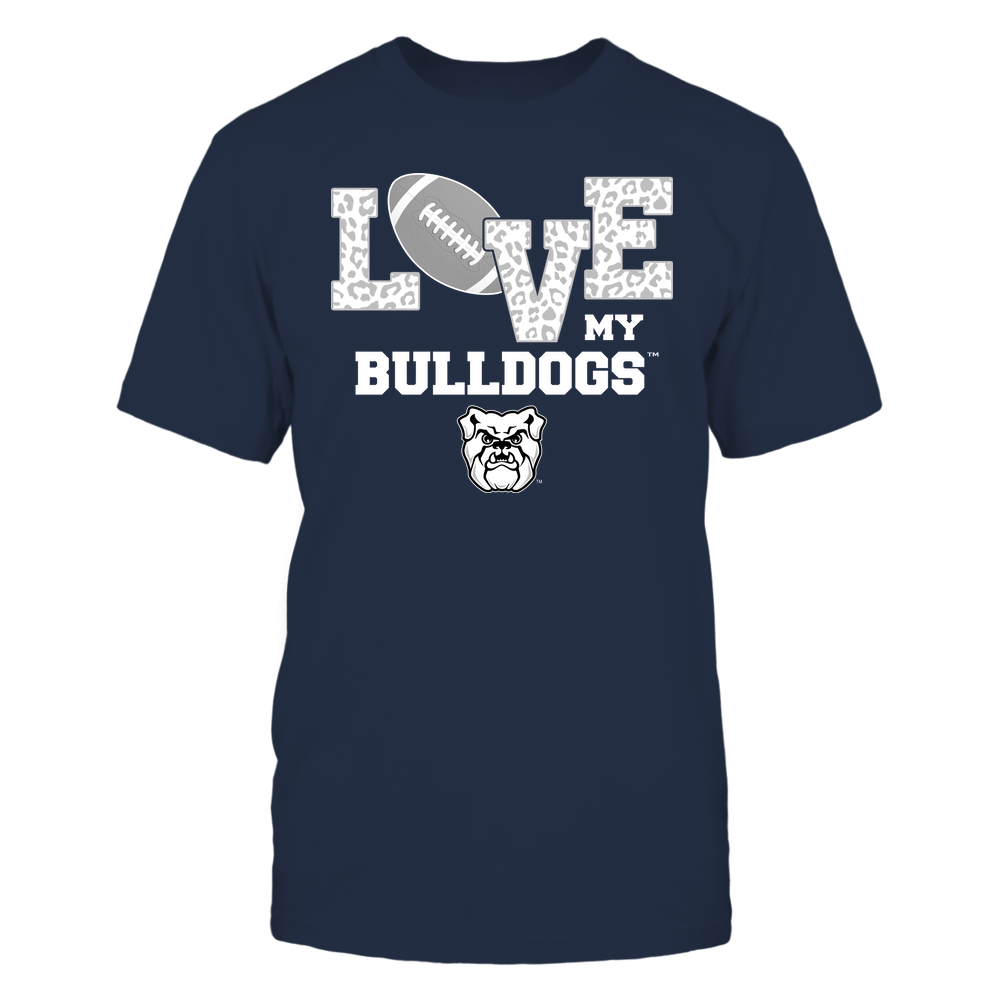 Butler Bulldogs - Love My Team - Leopard Football - Team Front picture
