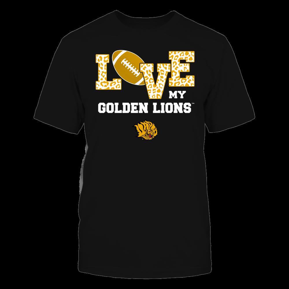 Arkansas Pine Bluff Golden Lions - Love My Team - Leopard Football - Team Front picture