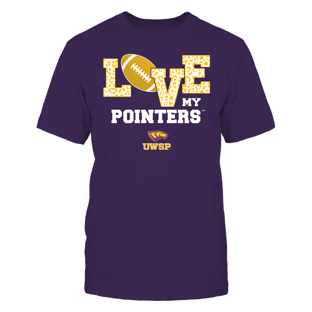 Wisconsin-Stevens Point Pointers - Love My Team - Leopard Football - Team Front picture